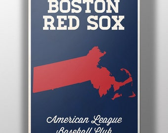 Boston Red Sox Minimalist Print