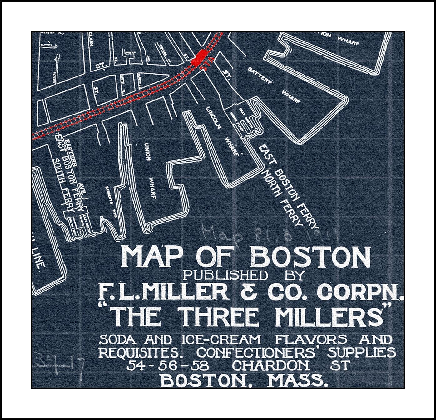 Map of boston massachusetts blueprint map boston map vintage map of boston massachusetts blueprint map boston map vintage map boston city map boston massachusetts malvernweather Images