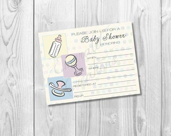 Printable Generic Baby Shower Invitation / DIY Printable / Instant Download