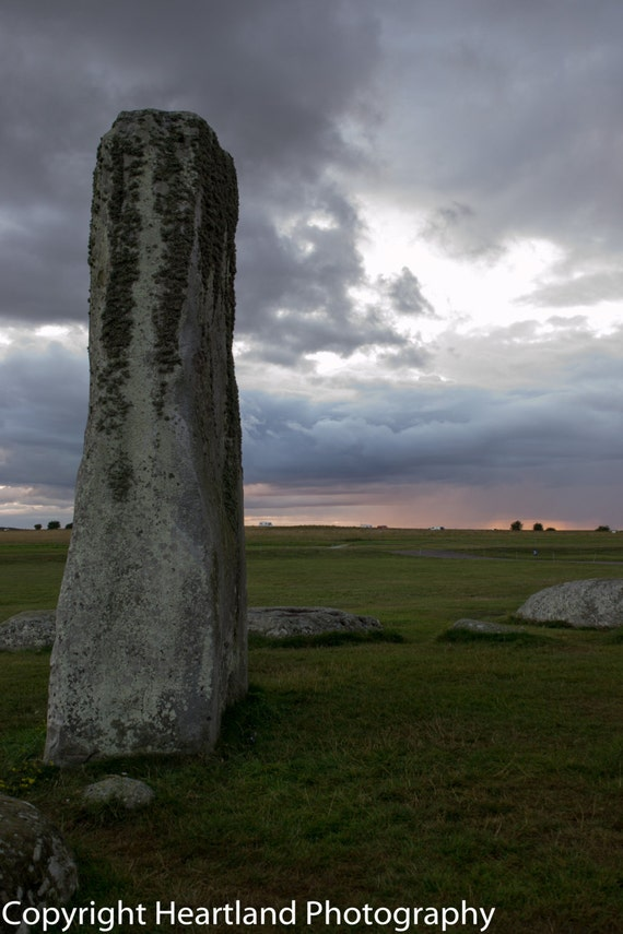 Large Print, Stonehenge Sunset, Landscape Photo, Sun Photography, English Countryside, United Kingdom, Clouds Picture, Unique, Inner Circle