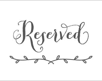 free printable reserved table sign template car interior design. Black Bedroom Furniture Sets. Home Design Ideas