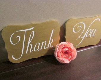Wedding Thank You Signs, Wedding Photo Props, Thank You signs, wooden Thank You signs