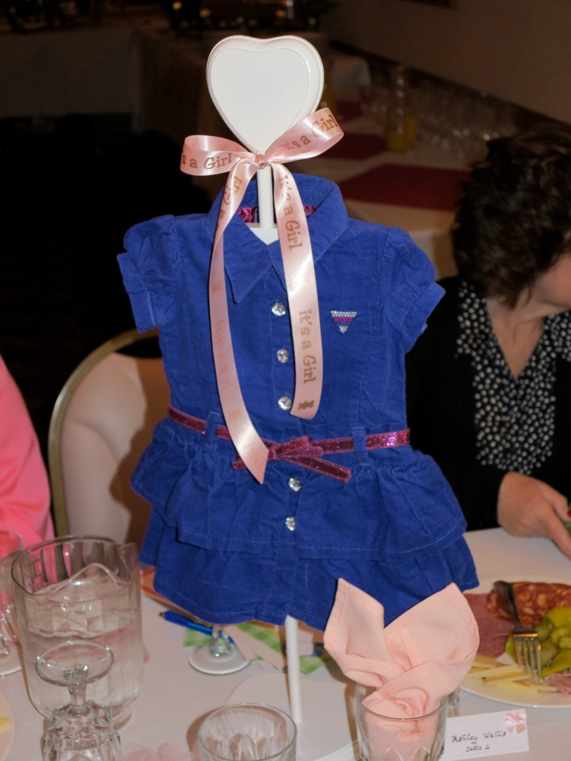 Dress Hanger Baby Shower Centerpiece Stacey Stands By