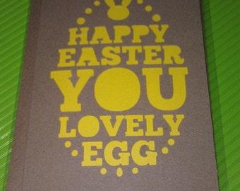 Easter Card - You Lovely Egg