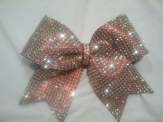 Big Bling Cheer Bow 3 Texas Size Red with