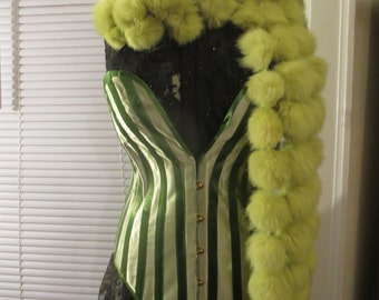 Bespoke Satin Steel Boned Plunge Corset, Great for Waist Training, Many Colors Available!