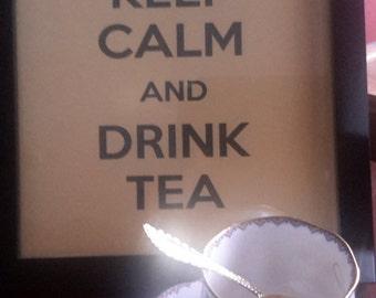 Keep Calm and Drink Tea Digital Art Poster