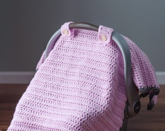 The  Thick and Quick  Crochet Car Seat Canopy Tent Cover Pattern & The Thick and Quick Crochet Car Seat Canopy Tent