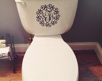 Monogram Toilet Decal