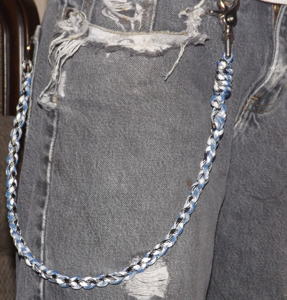 Custom biker wallet chain keychain 550 paracord choose your for How to make a paracord wallet chain