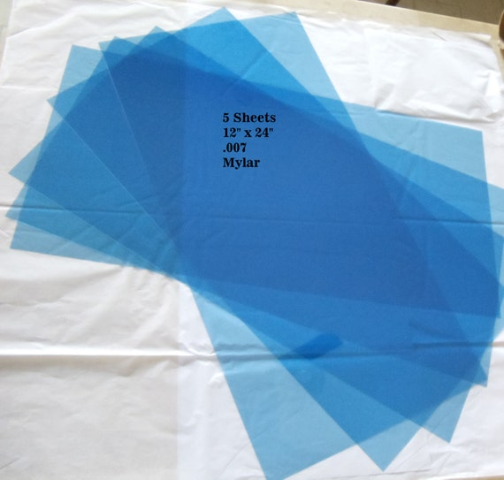 Blank Mylar Stencil Sheets 12 X 24 Pack Of By Oaklandstencil