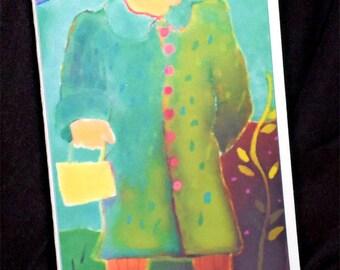 Edna Mae blank card
