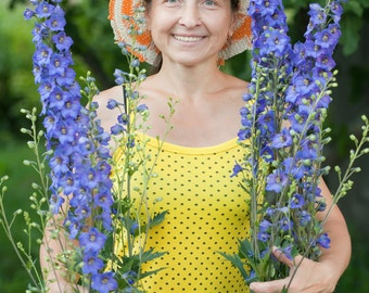 Flower Seeds - ROCKET LARKSPUR - Unusual Shade of Blue!  Must see!
