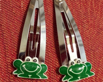 Whimsical Frog Hair Clips