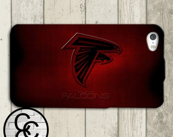 Atlanta Falcons Inspired NFL Football Red Custom iPhone Case for iPhone 4 and iPhone 5 iPhone 6 and iPhone 6 Plus