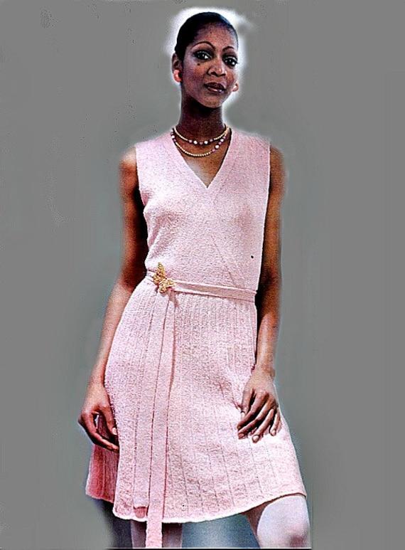 Knitting Pattern Wrap Dress : Hipster Knit Wrap Dress Pattern