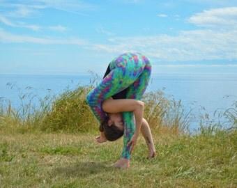 Tie Dye Pastel Yoga Legging - Tye Dye Dance Fitness Tights