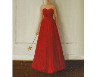 Portrait. Fairy Godmother. Art Print From Original Oil Painting
