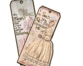 Jane Eyre Bookmarks, Set of Four, Gifts for her Charlotte Bronte Quotes, I Am No Bird, Villette
