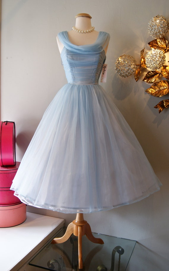 Vintage 1950's Dress  50's Cinderella Blue Party. Vintage Wedding Dresses Dublin. Summer Wedding Guest Dresses Uk. Indian Wedding Dresses Bollywood. Bohemian Beach Wedding Dress For Sale. Short Wedding Dress Long Bridesmaid Dresses. Boho Wedding Dresses Dallas. Wedding Dress Style Explained. Wedding Dresses By Blue Designer