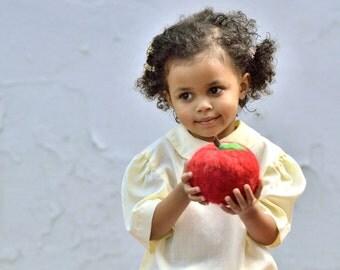 Fall Decor - Giant Felted Apple Toy - Autumn Dorm Decor - Eco Friendly & Kid Friendly Wool Play Fruit - Home Decor (Ready to Ship)