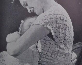 Vintage Knitting Patterns Book 1940s - Practical Knitting Illustrated - Garments for Women, Men, Children and Babies - 40s original patterns