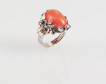 Fiery Opal Ring - in 14K gold