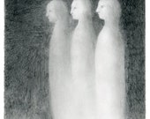 Limited Edition Print A4 size - Three girls 8/50