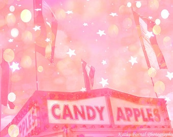 Pink Carnival Prints, Carnival Candy Apple Stand, Baby Girl Nursery Decor, Pink Carnival Wall Art Prints, Girls Room Decor, Kid's Room Decor