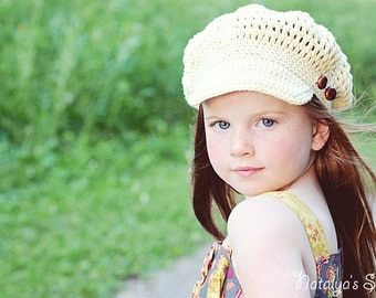 Crochet Pattern Hat,  Crochet Newsboy Hat Pattern, Crochet Hat Pattern, Crochet Pattern Baby Hat, Newsboy Cap, Crochet Girl Hat Pattern