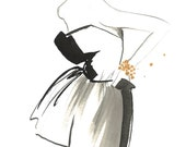 The Sophisticate, print from original watercolor and pen fashion illustration by Jessica Durrant