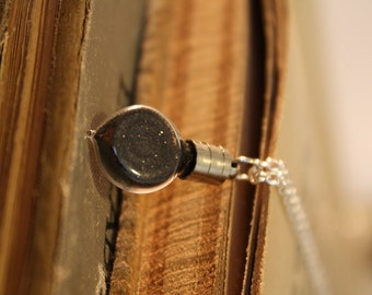 Vial Necklace - Edgar Allan Poe - The Black Death - Halloween Jewelry
