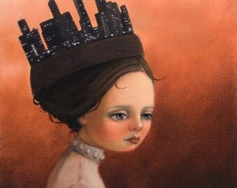 The City. Signed Print of an Original Oil Painting by Liese Chavez