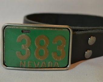 Nevada License Plate Belt Buckle