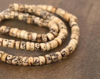 Betel Nut Heishi Beads, 6mm, full strand (795R)