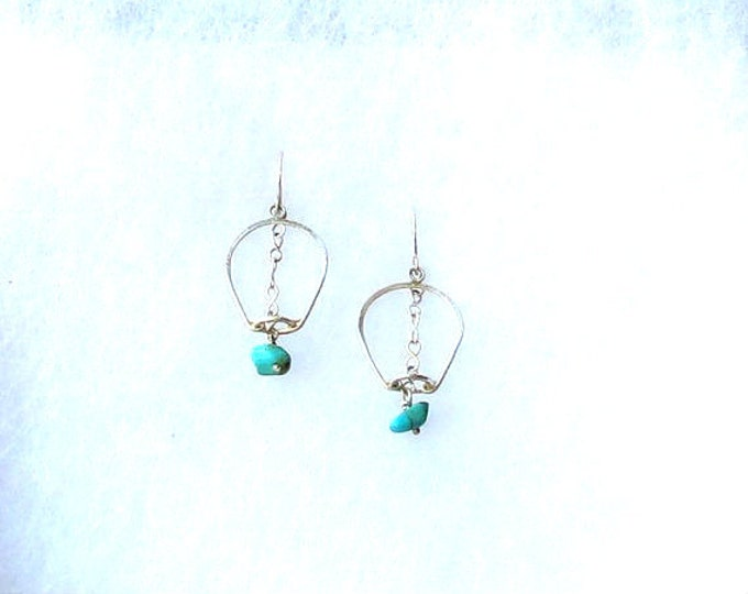 Drop Earrings, One of a Kind, Turquoise Earrings,  Dangle Earrings, Gift Idea, Handmade Jewelry