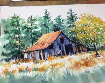 Barn painting..watercolor