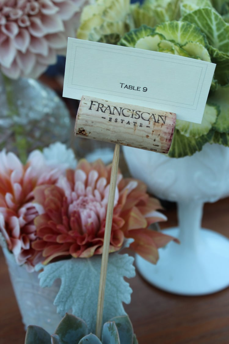 Virginia Themed Wedding Gift Bags : Wine Cork Name Holder Place Card Holder for by Winewifehappylife