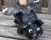 Folk Art Papier Mache Flying Pig Sculpture