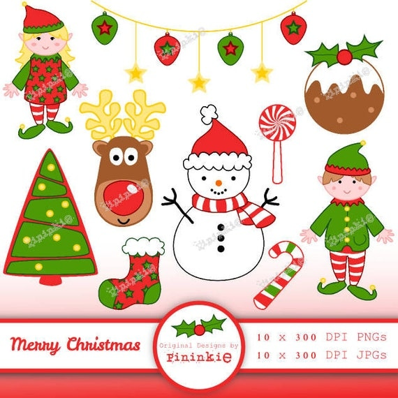 Christmas Digital Clip Art - Christmas Clipart - Instant Download ...