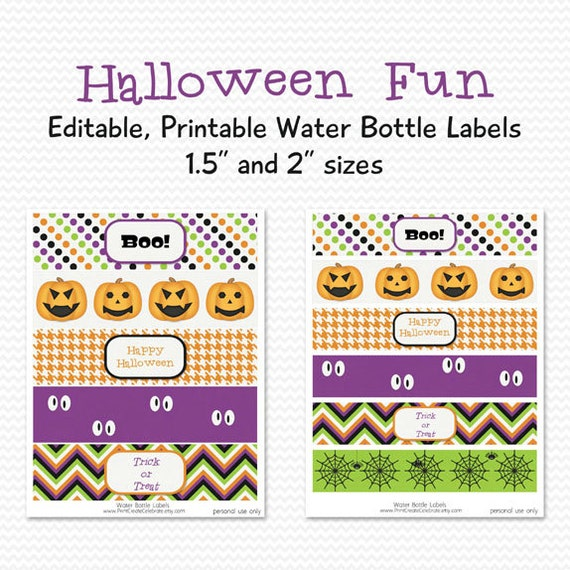... , Halloween Party Decoration -- Editable, Printable, Instant Download