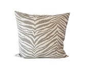 OUTLET SALE Brown pillow cover. Animal Print Accent Pillow Cover. Decorative Pillow.
