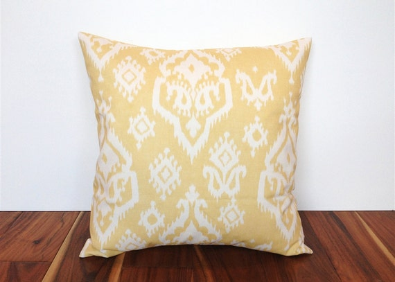 Pale Yellow Throw Pillow Cover : Yellow Decorative Throw Pillow Cover. 18 X 18 Inch Pale Yellow