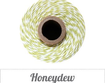 Honeydew Green Stripes Twine - 20/50/240 yds - by The Twinery