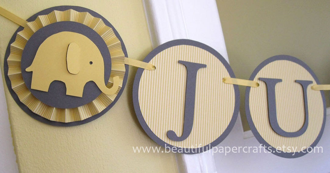 gray and yellow baby shower it 39 s a boy baby elephant