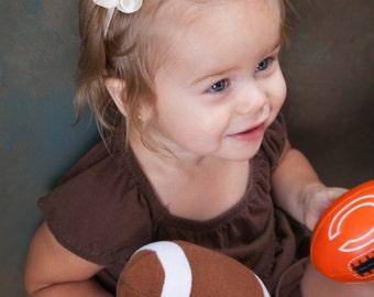 Football Headband - Brown Headband - Flower Headband - Newborn Infant Baby Headband - Toddler Teen Adult Headband - Football - Headband