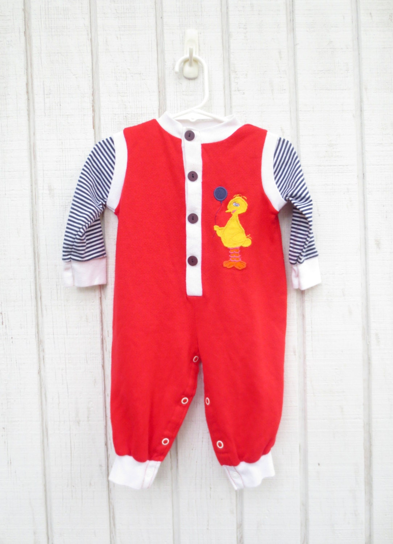 Sale Vintage Sesame Street Baby Clothes Pajamas 12 Months Big