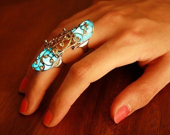"Double Finger Rings ""GLOW in the DARK"""