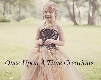 autumn scarecrow tutu dress photo prop halloween costume girls size 3 6 9 - 4t Halloween Costumes Girls