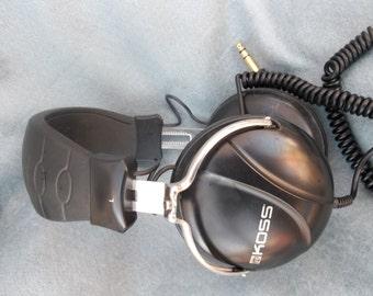 KOSS- vintage DJ headphones , old school - new look. steel wheels , let the record play . RAVE.